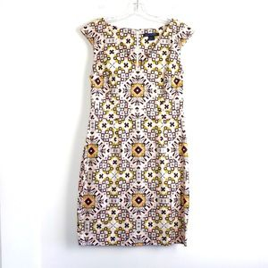 French Connection sheath dress classy print cotton